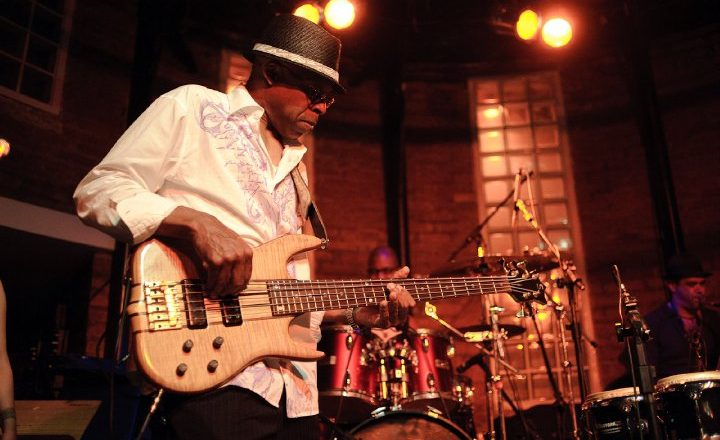 Gerald Brown playing bass